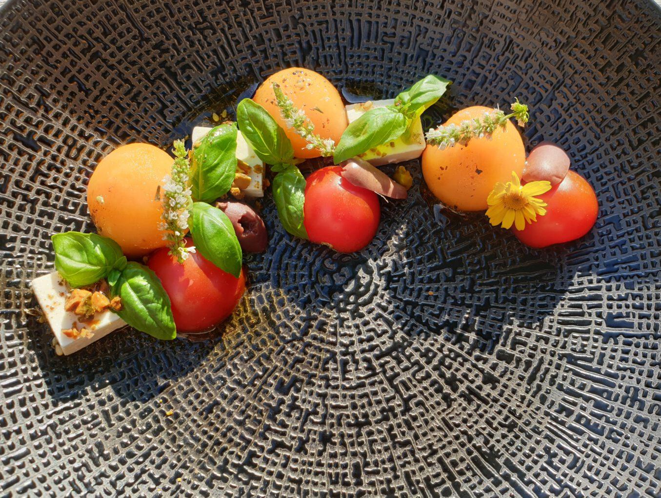 Cantaloupe Feta Salad